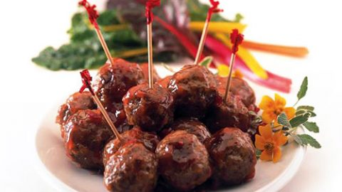 Cranberry Glazed Veal Meatballs