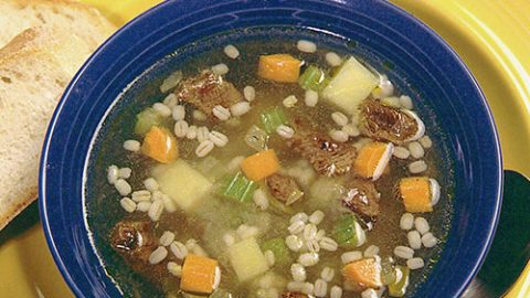 Hearty Veal, Vegetable and Barley Soup