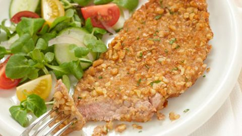 Nut Crusted Veal Cutlets