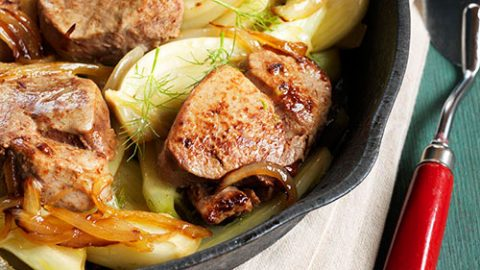 Ontario Veal Medallions with Caramelized Onion and Fennel