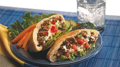Spiced Veal Pita Pockets