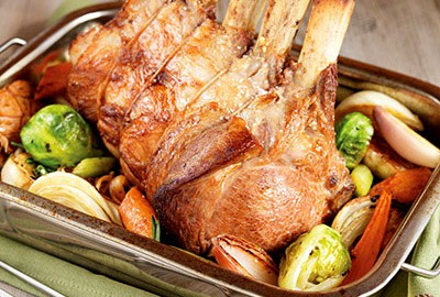 Rack of Ontario Veal with Pan Roasted Vegetables
