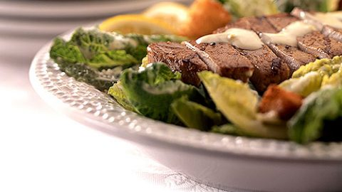 Grilled Veal Caesar Salad