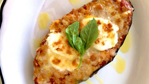 Veal, Eggplant & Parmesan Lasagna Boats