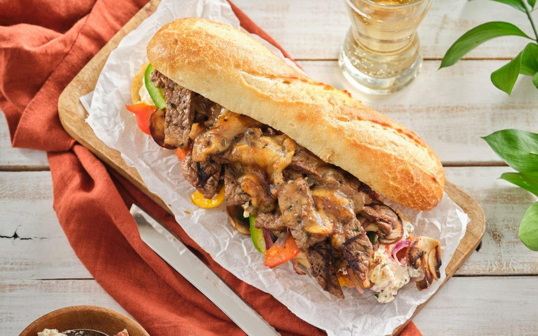 Veal Scaloppini Philly Cheese Steak