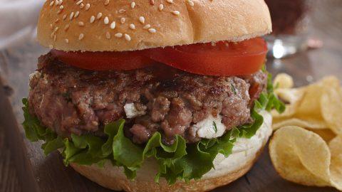 Ontario Veal & Bacon Cheeseburgers
