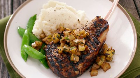Balsamic Pear Veal Chops