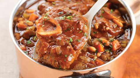 Braised Ontario Veal Shanks with White Beans