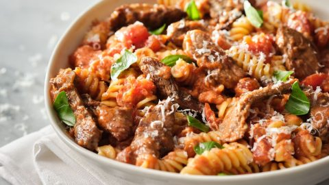 Creamy Tomato Fusilli with Veal