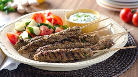 Curry Veal Kebabs