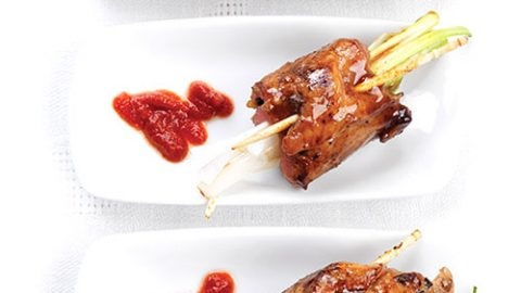 Grilled Ontario Veal Roll-Ups with Scallions