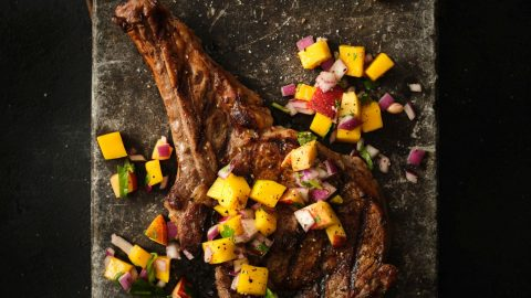 Grilled Veal Chops with Sunshine Salsa