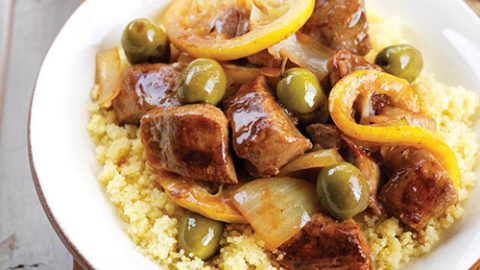 Mediterranean Stewed Ontario Veal with Lemon and Olives