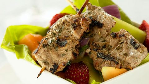 Ontario Veal Brochettes with Mojito Salad