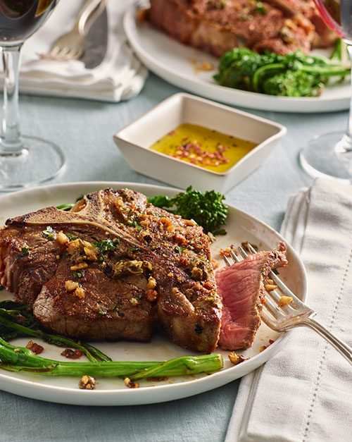 Palermo Style (Sicilian) Veal Chops