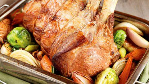 Rack of Ontario Veal with Pan Roasted Vegetables