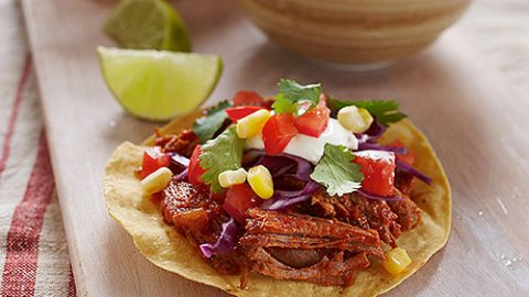 Shredded Ontario Veal Tostadas