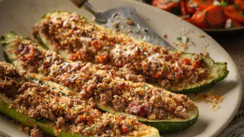 Veal Stuffed Zucchini
