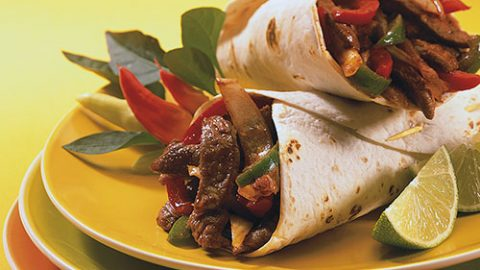 Veal and Sweet Pepper Fajitas