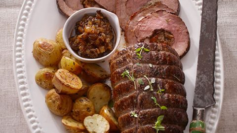 Veal Roast with Onion Marmalade