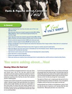 Farm  Food Care's Veal Factsheet