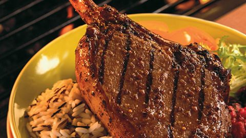 Oh Canada! Veal Chops with Savoury Fruit Relish