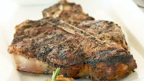 Grilled Ontario Veal T-Bone with Fig Confit