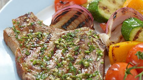 Grilled Veal Chops with Gremolata